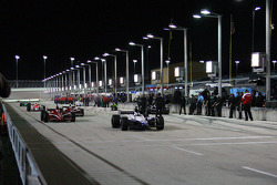 Marco Andretti leads the field on pitlane