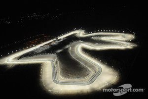 An aerial view of Losail International Circuit
