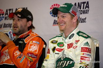 Tony Stewart and Dale Earnhardt Jr. talk to media