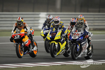 Dani Pedrosa, Colin Edwards and Jorge Lorenzo