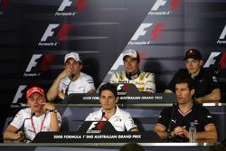 Heikki Kovalainen, McLaren Mercedes, Giancarlo Fisichella, Force India F1 Team, Mark Webber, Red Bull Racing, Timo Glock, Toyota F1 Team, Nelson A. Piquet, Renault F1 Team, Sébastian Bourdais, Scuderia Toro Rosso