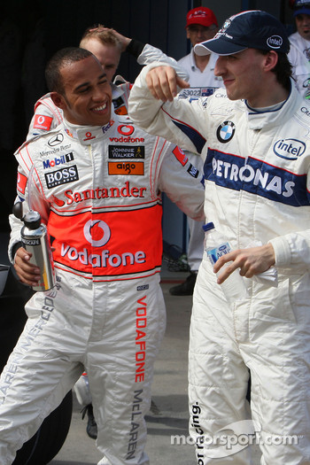 Lewis Hamilton, McLaren Mercedes and Robert Kubica,  BMW Sauber F1 Team