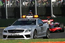 Lewis Hamilton, McLaren Mercedes, MP4-23 behind the safety car