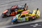 Juan Pablo Montoya and Kyle Busch
