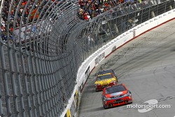 Jeff Burton takes the checkered flag