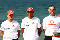 Lewis Hamilton, McLaren Mercedes, Heikki Kovalainen, McLaren Mercedes, Craig Lowndes, TeamVodafone