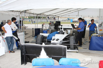 Dale Coyne Racing team members at work