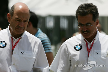 Peter Sauber, BMW Sauber F1 Team, Team Advisor and Dr. Mario Theissen, BMW Sauber F1 Team, BMW Motorsport Director