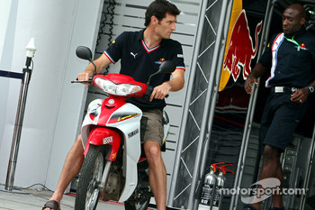 Mark Webber and personal trainer Roger Cleary