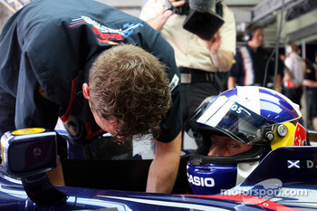 Ole Schack and David Coulthard, Red Bull Racing