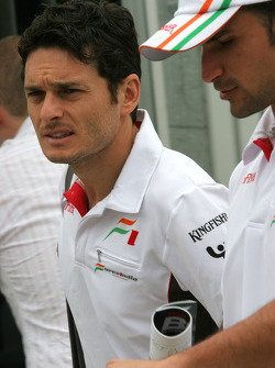 Giancarlo Fisichella, Force India F1 Team and Vitantonio Liuzzi, Test Driver, Force India F1 Team