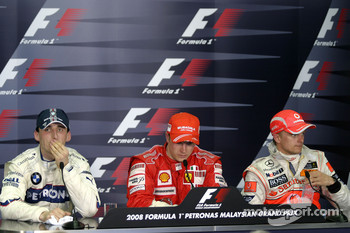 Press conference: race winner Kimi Raikkonen, second place Robert Kubica, third place Heikki Kovalainen