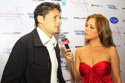 Gala Dinner: Giancarlo Fisichella interviewed by ESPN's Paula Malai Ali
