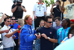 Tennis pro David Nabaldian with Helio Castroneves