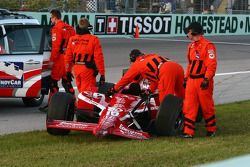 Dan Wheldon's damaged car