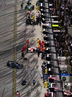Action on pit lane