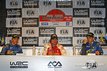 Press conference: Petter Solberg, Sébastien Loeb and Chris Atkinson