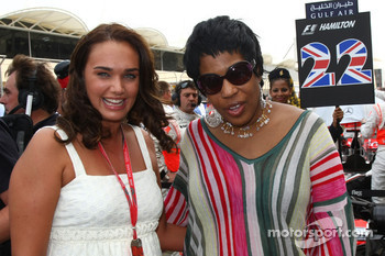 Tamara Ecclestone, Daughter of Bernie Eccelestone and Macy Gray R&B Soul music artist- Formula 1 World Championship, Rd 3, Bahrain Grand Prix, Sunday Pre-Race Grid