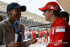 Vettel and Raikkonen in 2008