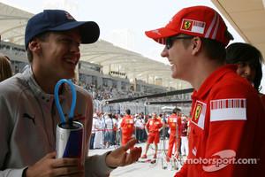 Vettel and Raikkonen in 2008