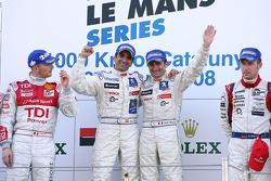 LMP1 podium: class and overall winners Nicolas Minassian and Marc Gene
