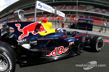 David Coulthard, Red Bull Racing, on slicks