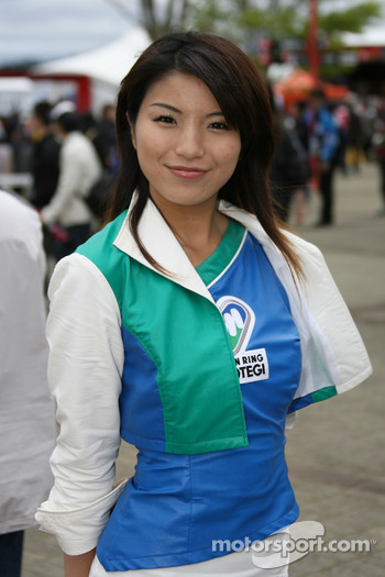 A charming Twin Ring Motegi girl