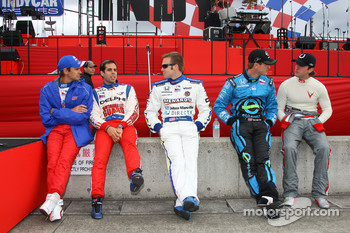 Darren Manning, Vitor Meira, Ed Carpenter, Ryan Hunter-Reay and A.J. Foyt IV