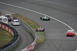 Hideki Mutoh in trouble exiting pit road