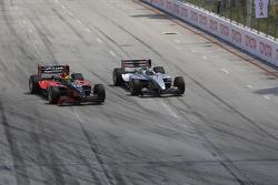 Mario Dominguez passes Bruno Junqueira