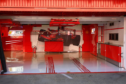 Empty Ferrari garage