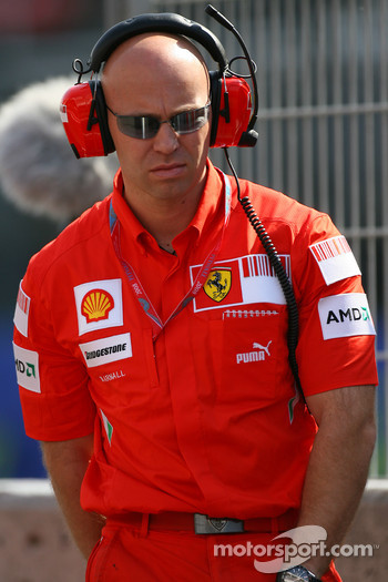 Mark Arnall, Physio for Kimi Raikkonen, Scuderia Ferrari
