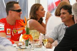 Michael Schumacher, Test Driver, Scuderia Ferrari with Nelson Piquet