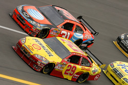Kevin Harvick and Jeff Burton