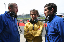 Olivier Panis with Alain Prost and Nicolas Prost, driver of A1 Team France