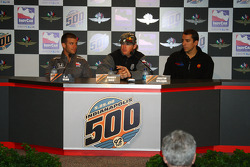 Ernesto Viso, Buddy Rice and Justin Wilson in a press conference