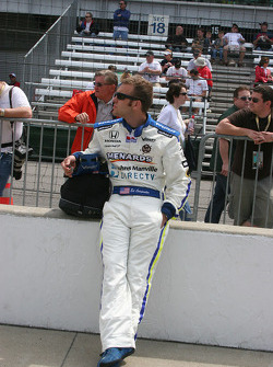 Ed Carpenter waits his turn to qualify