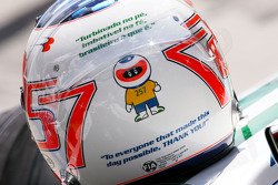Helmets of Rubens Barrichello, Honda Racing F1 Team who celebrates his 257th GP