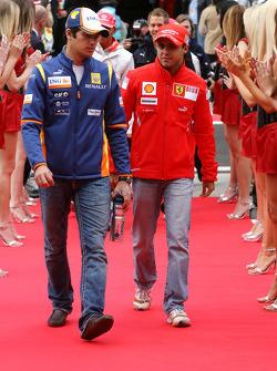 Nelson A. Piquet, Renault F1 Team and Felipe Massa, Scuderia Ferrari