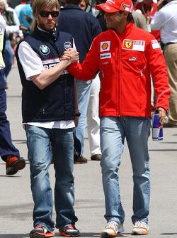 Nick Heidfeld, BMW Sauber F1 Team and Felipe Massa, Scuderia Ferrari