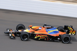 Marco Andretti on his first qualification lap