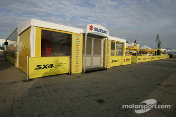 Suzuki World Rally Team hospitality