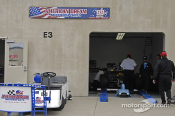 American Dream Motorsports team garage