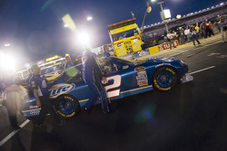 The Miller Lite crew push their car towards the frontstretch before the start of the NASCAR Sprint All-Star race