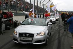 Driver parade with Timo Scheider, Audi Sport Team Abt and Tom Kristensen, Audi Sport Team Abt