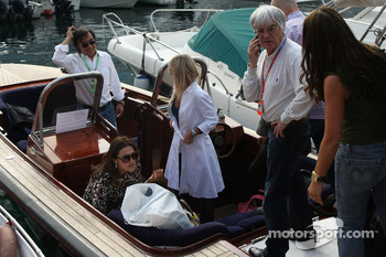 Bernie Ecclestone, President and CEO of Formula One Management and Slavica Ecclestone, Wife to Bernie Ecclestone