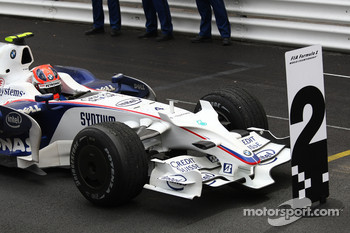 2nd place Robert Kubica,  BMW Sauber F1 Team