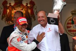 Ron Dennis, McLaren, Team Principal, Chairman with 1st place Lewis Hamilton, McLaren Mercedes