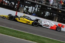 Tomas Scheckter passing Ryan Briscoe