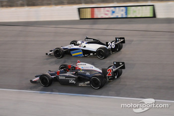 A.J. Foyt IV and Marco Andretti running together